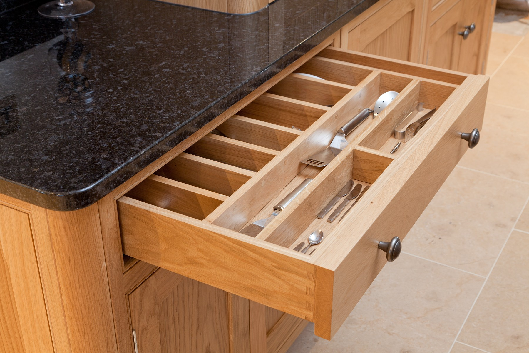 bespoke spice racks and cutlery trays probox drawers
