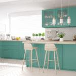 Scandinavian classic kitchen with wooden and turquoise details, minimalistic interior designScandinavian classic kitchen with wooden and gray details, minimalistic interior designScandinavian classic kitchen with wooden and brown details, minimalistic interior design