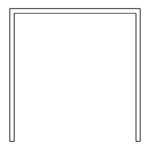 Drawer standard carcase shape