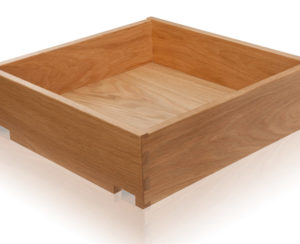 Standard sized oak dovetail drawers