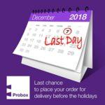Christmas holiday -7th of Dec for delivery early in the New Year